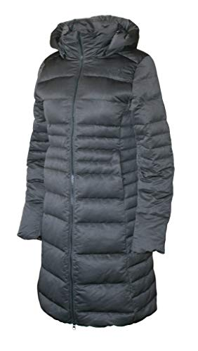 The North Face Women's Metro 2 Parka Down Winter Long Hooded Puffer Jacket, Tnf Black Heather /Black, Small