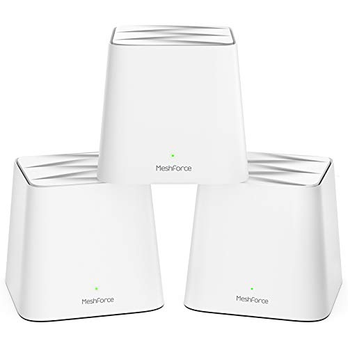 Meshforce M1 Mesh WiFi System, Whole Home WiFi Performance, WiFi Router Replacement, Max Wireless Coverage 6+ Rooms, Easy to Setup, Parental Control (3 Pack)