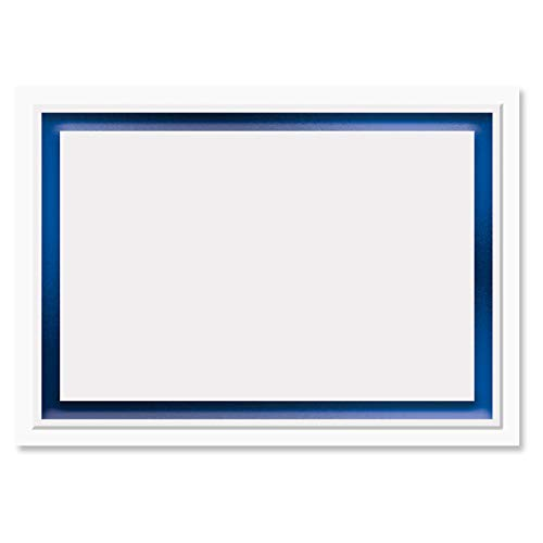Printable Blue Foil Embossed Premier Reception Cards - Set of 28 3 1/2 by 4 7/8 Inch Reception Cards on 38# Stock, Compatible on Laser and Inkjet Printers