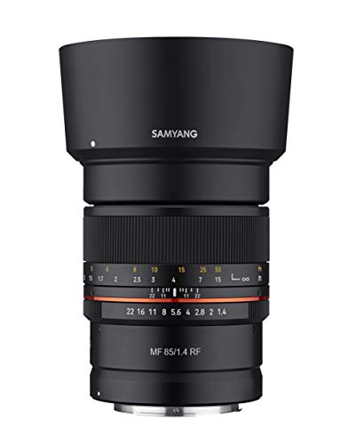 Samyang 85mm F1.4 Weather Sealed High Speed Telepoto Lens for Canon R Mirrorless Cameras