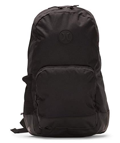 Hurley Men's Blockade Solid Laptop Backpack, black, QTY