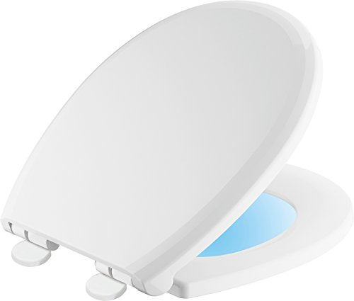 Delta Faucet 803902-N-WH Sanborne Round Nightlight Toilet Seat with Slow Close and Quick-Release, White