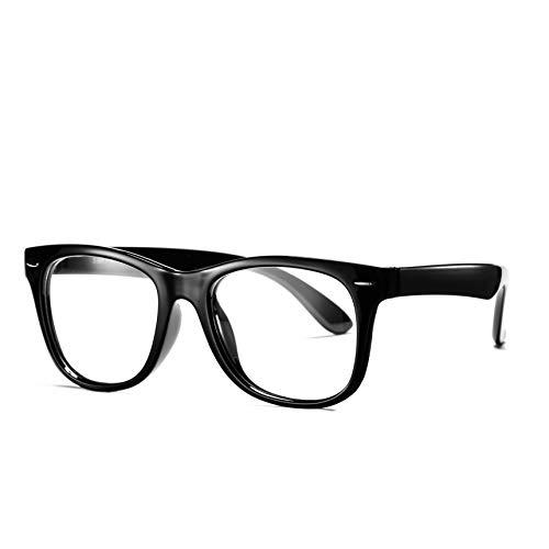 COASION Kids Clear Glasses for Little Girls Boys, Geek Fake Nerd Eyeglasses for Costume (Age 3-12) (Black)