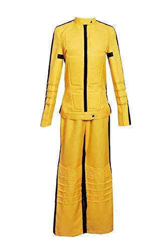 DEREN Kill Bill Cosplay The Bride Beatrix Michelle Kiddo Costume Outfit Tailored