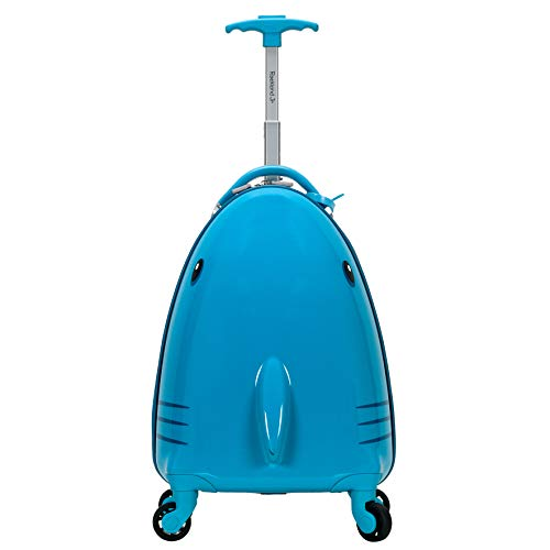 Rockland Jr. Kids' My First Hardside Spinner Luggage, Shark, Carry-On 19-Inch