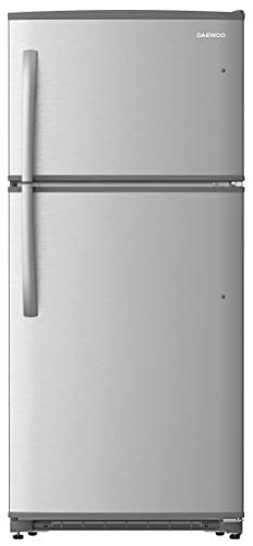 Daewoo RTE18GSSMD Top Mount Refrigerator, 18 Cu.Ft, Stainless Steel