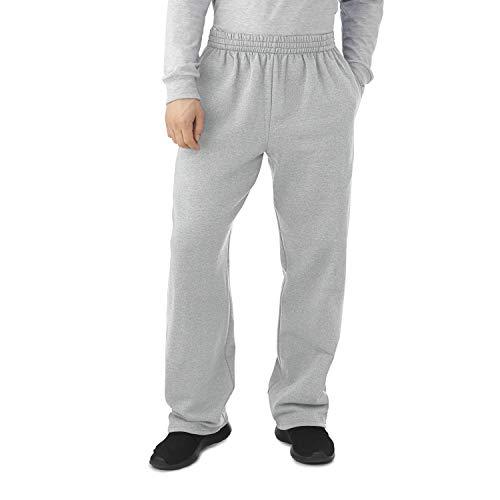 Fruit of the Loom Men's Fleece Sweatpants, Light Grey Heather, Large