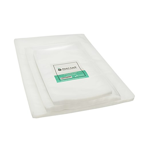 Nutri-Lock Vacuum Sealer Bags (150 Bags). 50 Pint (6x10), 50 Quart (8x12) & 50 Gallon (11x16) Food Saver Bags. BPA Free. Perfect for Sous Vide. Works with FoodSaver.