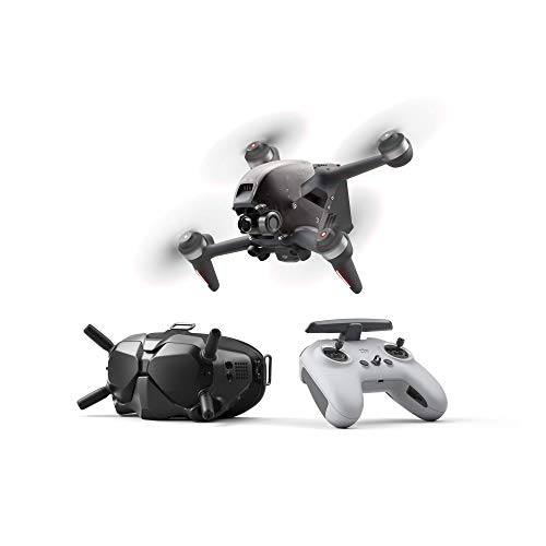 DJI FPV Combo - First-Person View Drone UAV Quadcopter with 4K Camera, S Flight Mode, Super-Wide 150° FOV, HD Low-Latency Transmission, Emergency Brake and Hover, Gray (Renewed)