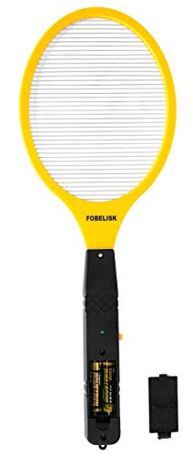 Bug Zapper - Electric Fly Swatter - Mosquito Zapper Killer - Fly Zapper - Electric Fly Swatter Racket for Camping, Travel, Outdoor and Indoor Pest Control (2AA Batteries Included)