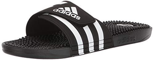 adidas Adissage Mule, FTWR White/core Black, 14 Standard US Width US