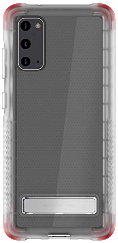 Ghostek Covert Galaxy S20 Clear Case with Built-In Stand and Secure Hand Grip Bumper Super Thin Slim Fit Design and Wireless Charging Compatible Phone Cover for 2020 Galaxy S20 5G (6.2 Inch) - (Clear)