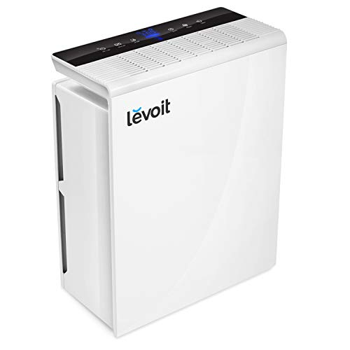 LEVOIT Smart Wi-Fi Air Purifier for Home Large Room with H13 True HEPA Filter Smoke Eater and Odor Eliminator, Cleaners for Allergies and Pets Mold Pollen Dust,Energy Star,Works with Alexa, White