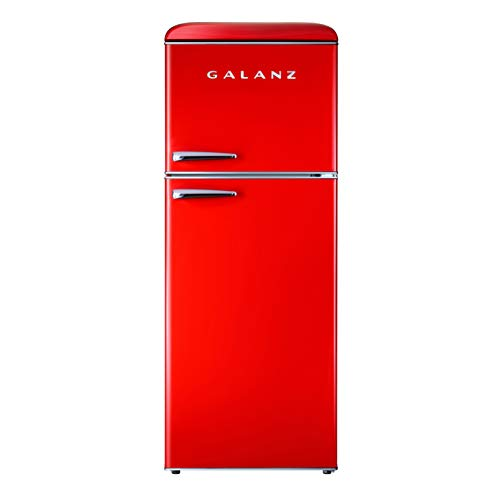 Galanz GLR10TRDEFR Retro Refrigerator, 10.0 Cu Ft, Red