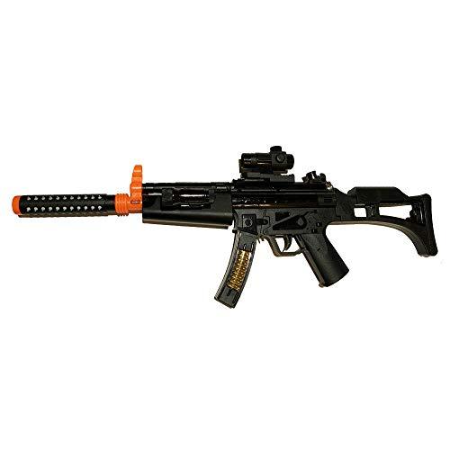 LilPals' 29 Inch Toy Machine Gun Rifle - with Dazzling Light, Amazing Sound & Unique Action (Battery Powered)