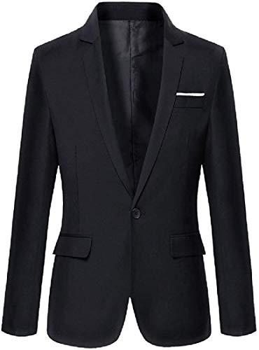 Men Sports Coats Fashion Long-Sleeve Slim Business One Button Blazer Jackets,Black,US Small