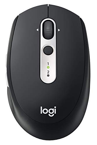 Logitech M585 Multi-Device Wireless Mouse - Bluetooth or USB, Graphite (Renewed)