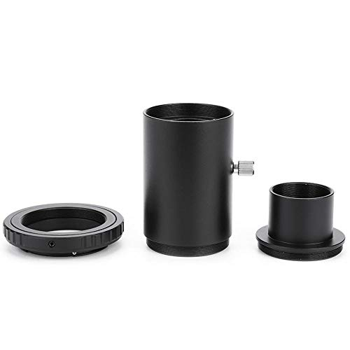 Bindpo Camera Adapter, Astronomical 1.25 inch Telescope Eyepiece Extension Tube Adapter with Standard M42 Filter Threads & T2 Ring Lens Adapter, for Nikon F Mount Camera