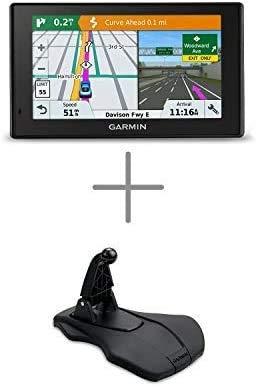 Garmin DriveSmart 51 NA LMT-S Friction Mount Bundle (010-01680-02) with Lifetime Maps/Traffic, Live Parking, Bluetooth,WiFi, Smart Notifications, Voice Activation, Driver Alerts