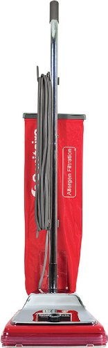 Sanitaire SC888K Commercial CRI Approved Upright Vacuum Cleaner with Disposal Bag and 7 Amp Motor, 12' Cleaning Path