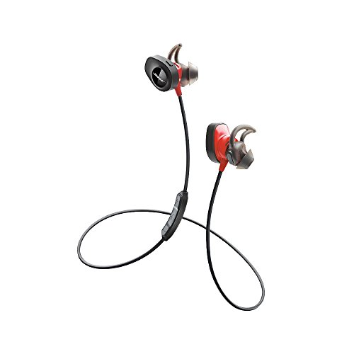Bose SoundSport Pulse Wireless Headphones, Power Red (With Heartrate Monitor) (Renewed)