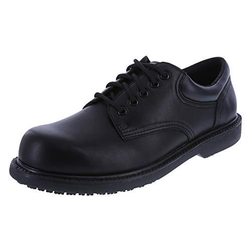 safeTstep Blk Blk Men's Slip Resistant Manager Oxfords 10.5 Regular