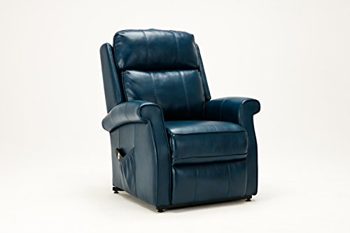 Source One Walter Navy Blue Traditional Recliner, Lift Chair