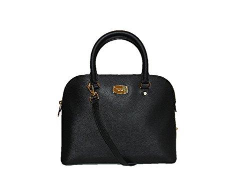Michael kors cindy large dome satchel bag black