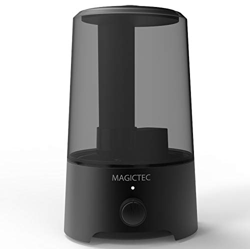 Cool Mist Humidifier, Magictec 2.5L Bedroom Essential Humidifier Diffuser, Baby Humidifier with Adjustable Mist Output, Auto Shut Off, Super Quiet 360° Nozzle- Lasts Up to 24 Hours