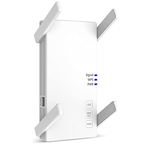 [2021 New Version] Wall-Through Strong WiFi Range Extender 2100Mbps,up to 3000 Sq.ft Full Coverage, Wireless Internet Repeater, WiFi Boosters with Ethernet Port and Access Point