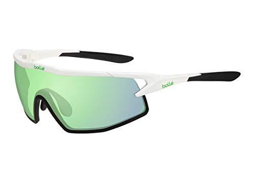 Bolle 12521 B-Rock Matte White Sunglasses, Green