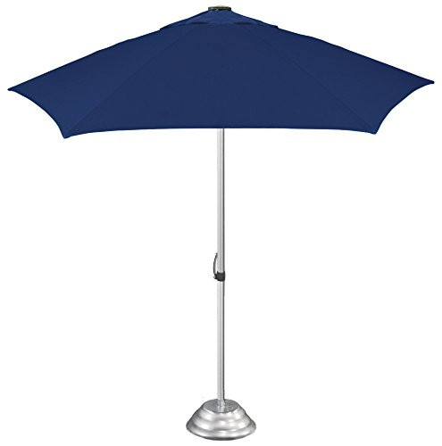 STROMBERGBRAND UMBRELLAS The Vented Market, Large, Commercial-Quality Café-Style Patio Umbrella, Patented Construction,(Base not Included), Navy Blue, One Size