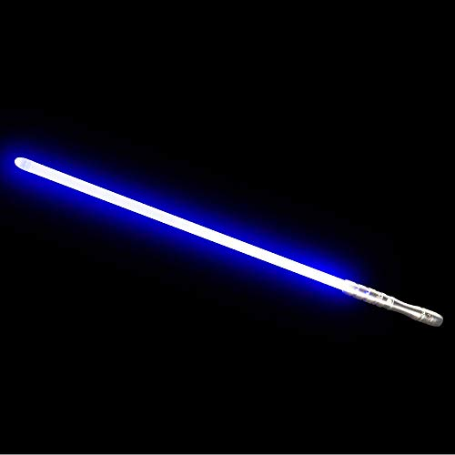 YDD LED Light Up Saber Force FX Sword Heavy Dueling, Rechargeable Lightsaber, Loud Sound Hight Light with FOC, Metal Hilt Light Sword , Chrismas Toy Gift (Blue)