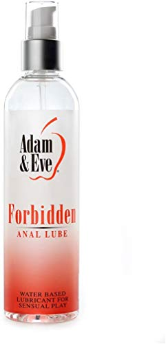 Adam & Eve Forbidden Anal Lube 8 oz. | Odorless, Water Based Lubricant for Men, Women and Couples