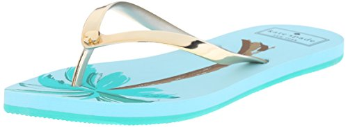 Kate Spade New York Women's Nassau Flip Flop, Gold, 10 M US