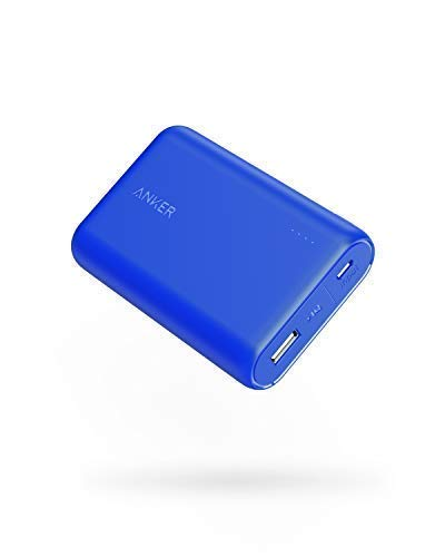 Anker PowerCore 10000 Portable Charger, One of The Smallest and Lightest 10000mAh External Battery, Ultra-Compact High-Speed-Charging-Technology Power Bank for iPhone, Samsung Galaxy and More (Blue)