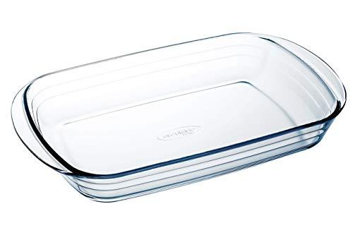 Arcuisine Glass Rectangular 13.75 x 8.65 Inch Roaster Pan