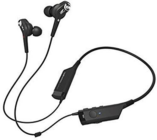 Audio-Technica ATH-ANC40BT QuietPoint Active Noise-Cancelling Bluetooth Wireless In-Ear Headphones with In-Line Mic & Control