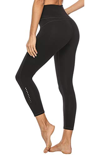 JOYSPELS High Waisted Workout Leggings for Women with Pockets Yoga Pants Spandex Exercise Running Athletic Leggings(Black, M)