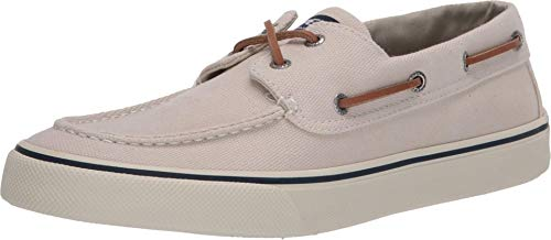 Sperry mens Bahama Ii Distressed loafers shoes, Off White, 8.5 US