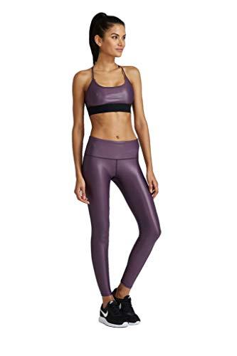 Noli Yoga Women Activewear Performance Leggings (Liquid Ultra Violet, Small)