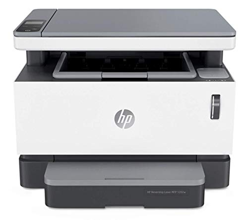 HP Neverstop All-in-One Laser Printer 1202w, Wireless Laser with Cartridge-Free Monochrome-Toner-Tank (5HG92A)