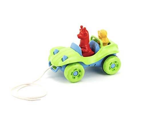 Green Toys Dune Buggy Pull Toy, Green