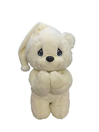 Aurora World Precious Moments Charlie Prayer Bear with Sound Now I Lay Me Down to Sleep Plush… (Cream)
