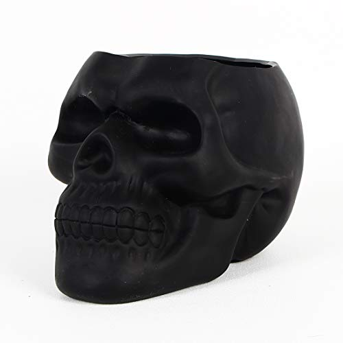 Dashamce Skull Planter Dish Large Flower Pot Container Box Halloween Skull Candy Bowl Desk Decoration