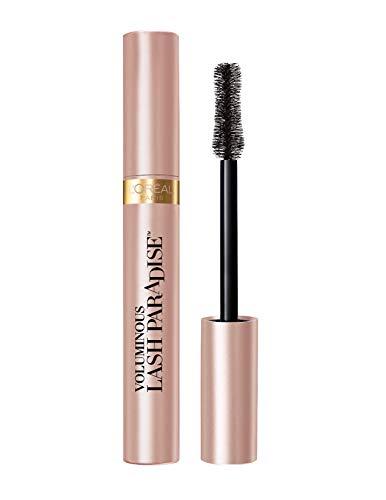 L'Oreal Paris Voluminous Makeup Lash Paradise Mascara, Voluptuous Volume, Intense Length, Feathery Soft Full Lashes, No Flaking, No Smudging, No Clumping, Blackest Black, 1 Count
