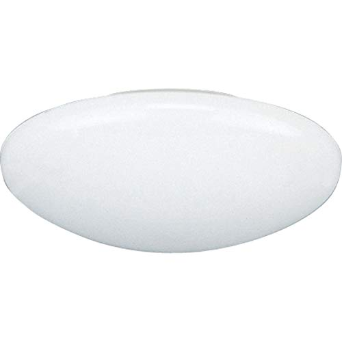 Progress Lighting P8025-60 Traditional Dome Shower Trim Collection in White Finish, 8-1/4-Inch Diameter