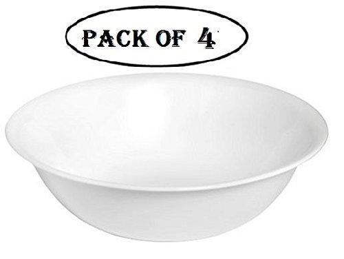 Corelle Livingware 1-quart Serving Bowl, Winter Frost White, Pack of 4