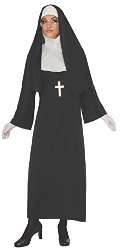 Rubie's Costume Co Women's Nun, Black/White, Large