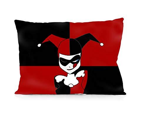 Rechzng Li Harley Quinn Pillowcase Both Sides Print Zipper Throw Pillows Covers 20x30 Inches